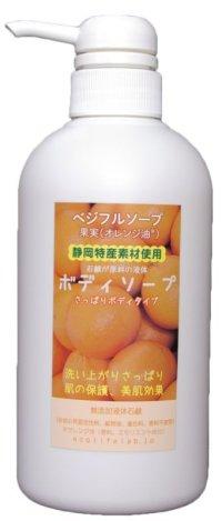 石鹸原料のボディソープFLU(果物)500ml お得タイプ